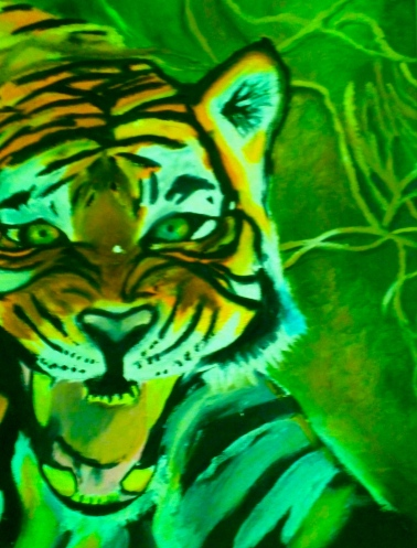 """Roaring Tiger"" Oil Painting by John Jolivette"