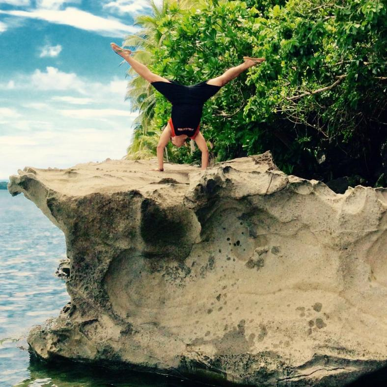 My nephew, Paulie, enjoying his summer vacation in Kapakyan, Dinagat Islands.